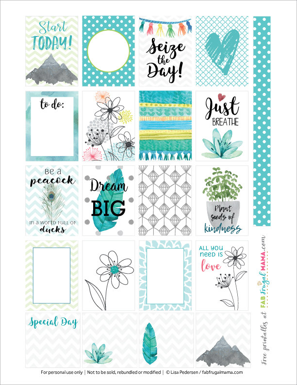 image regarding Free Printable Food Planner Stickers identify Free of charge Printable Spring 🌷 Joyful Planner Stickers - Fab Frugal